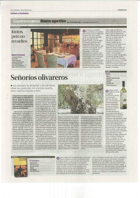 Señoríos Olivareros. Diario Información Alicante