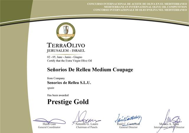 Concurso internacional del aceite de oliva en el Mediterráneo. Mediterránean International olive oil competition