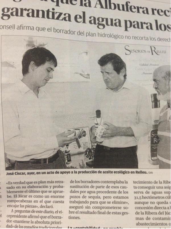 Visita del Vicepresidente de la Generalitat Valenciana a Señoríos de Relleu (Oro Verde de Relleu)