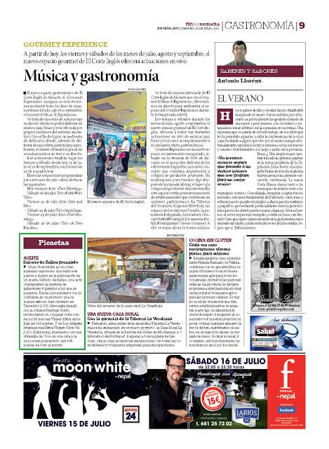 """Artículo en la revista """"Gastronomía"""""""