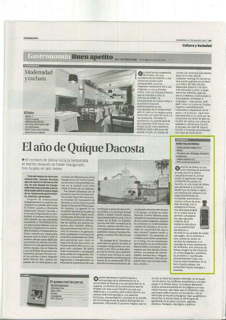 Nuestra aparición en el Diario Información de Alicante. Our appearance in the Diario Información de Alicante
