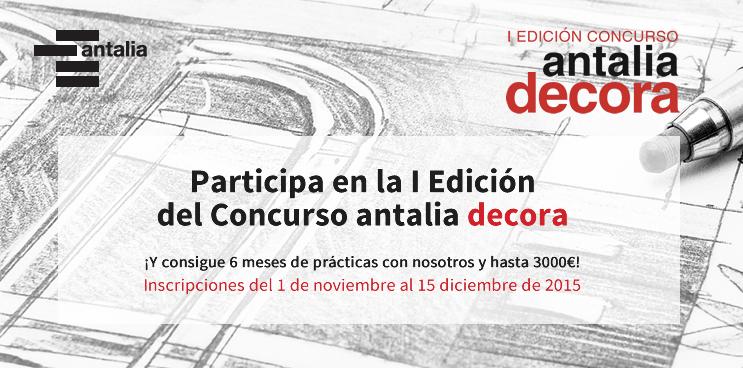 Patrocinamos la I Edición del concurso Antalia decora