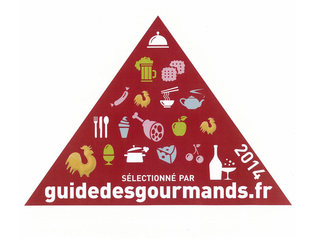 "Seleccionados en 2014 por ""Le guide gourmands"". Selected in 2014 by ""Le guide gourmands"""
