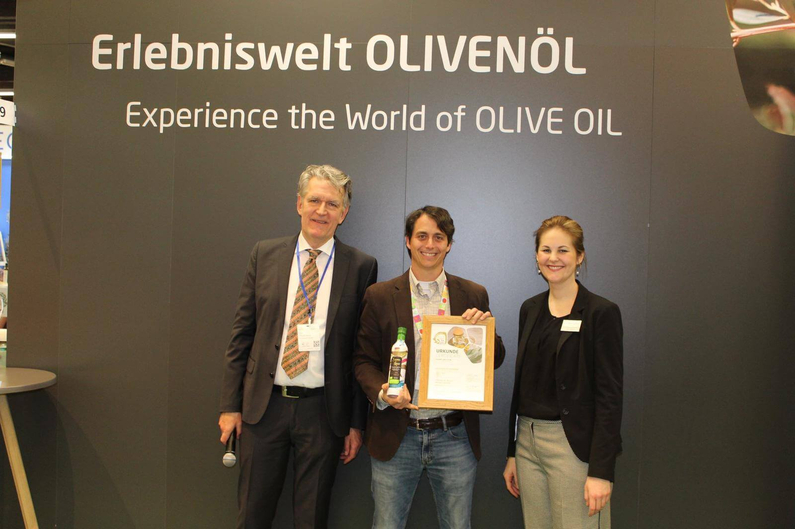 Biofach Olive Oil Ceremony